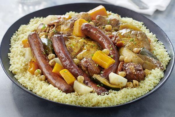 Couscous royal (bœuf, agneau et poulet)