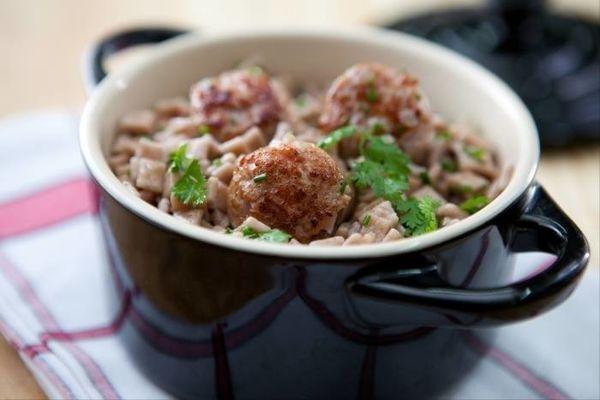 Un risotto savoyard : crozets et diots